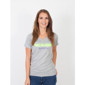Damen T-Shirt Heather DSV Biathlon