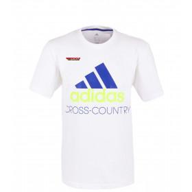 adidas Herren T-Shirt Cross-Country weiß