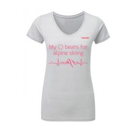 Damen T-Shirt My ♥ beats for...